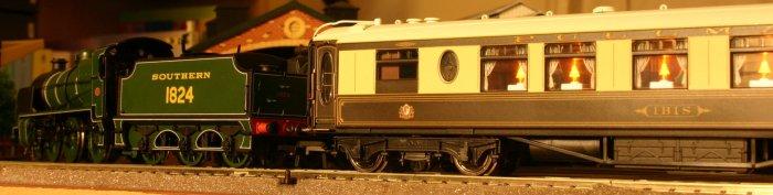 N class 1824 and Pullman Car Ibis
