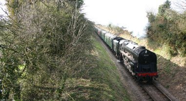 Watercress Railway (Bighton Lane) 9F class - 92212