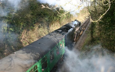 Watercress Railway (Bighton Lane) 9F class - 92212 (2)