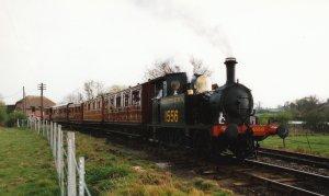 1997 - Departing Rolvenden for Tenterden (Tenterden Bank) - P class 1556