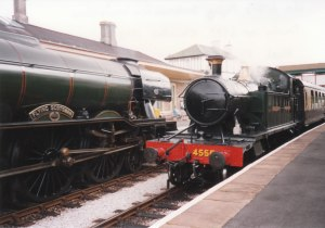 1993 - Churston - GWR Prairie 45xx 4555 and Gresley A3 60103 Flying Scotsman