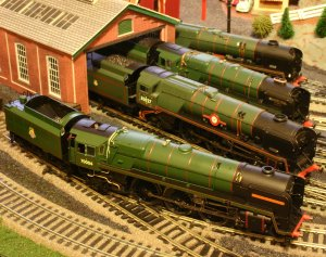 Hornby BR Brunswick Green line-up (fab-four)