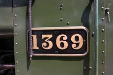 South Devon Railway (Buckfastleigh) GWR Pannier Tank 1366 class 1369 (nameplate)