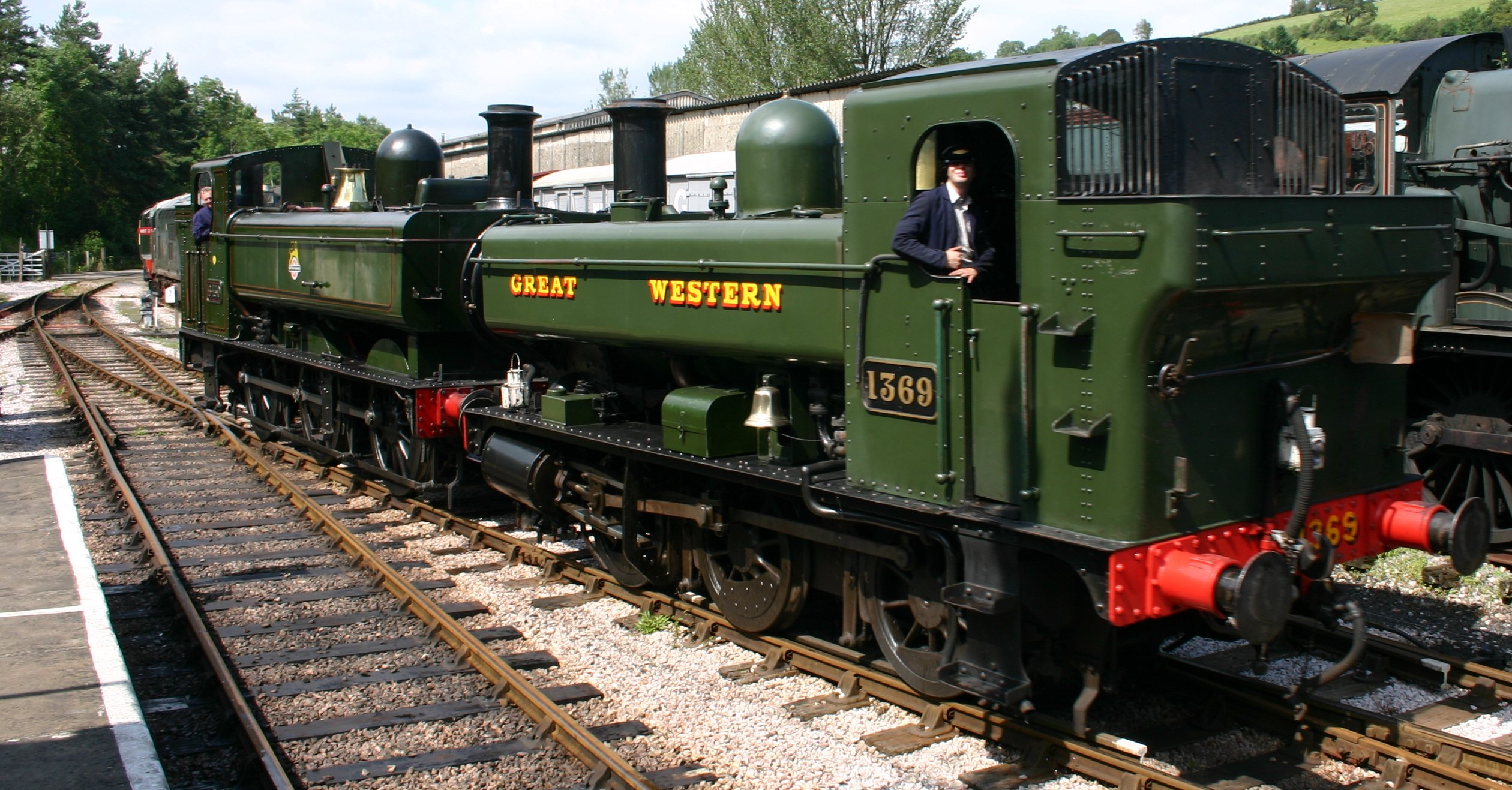 South Devon Railway (Buckfastleigh) GWR Pannier Tank 64xx class 6430 & 1366  class 1369