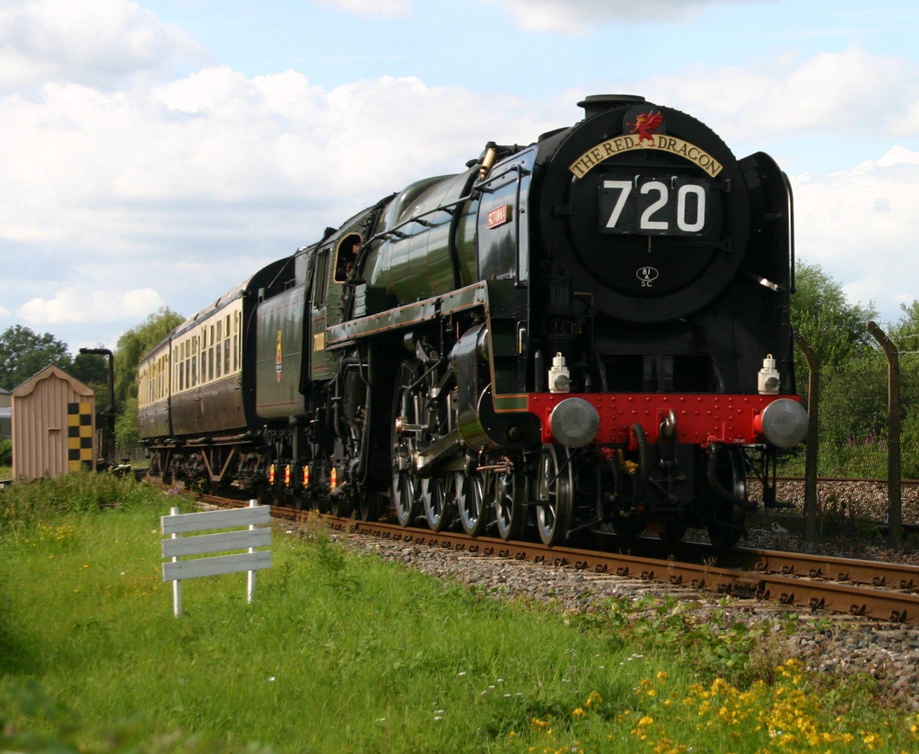 70000 Britannia at Didcot Railway Centre – 8th August 2012
