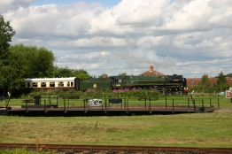 Didcot Railway Centre (turntable) - BR standard 7MT - 70000 Britannia - 2012