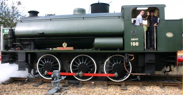 Isle of Wight Steam Railway - Hunslet Austerity - Havenstreet - WD198 Royal Engineer