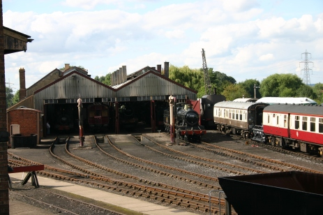 Didcot Railway Centre engine shed - 53xx 5322