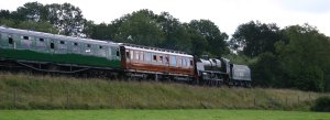 Bluebell Railway -  Approaching Horsted Keynes (from Sheffield Park) - U Class 1638