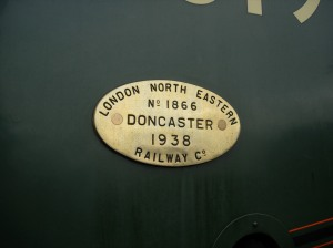 2008 - Ropley - A4 - 60019 Bittern - works plate