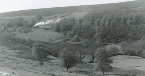 Late 1990s - Black 5 - North Yorkshire Moors Railway - train in the distance