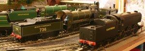 Southern Railway Days - Hornby Schools class V 925 Cheltenham, N15 736 Excalibur & Q1 class C1