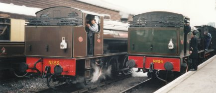 1995 Kent & East Sussex Railway - Tenterden - Austerity - 23 Holman F Stephens & 24 Rolvenden