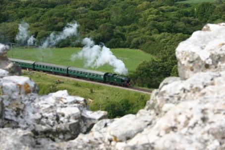 2007 - Swanage Railway - From Corfe Castle - 56xx 6695