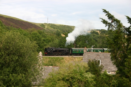 2007 - Swanage Railway - From Corfe Castle - BR standard 4MT 80104