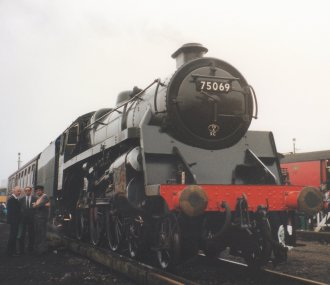 Ashford Open Day 1992 - BR Standard 4MT 4-6-0 75069