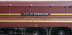 Hornby streamlined LMS Duchess or Princess Coronation class - 6235 City of Birmingham (nameplate)