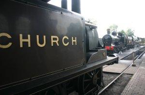2009 - Bluebell Railway - Sheffield Park - 672 Fenchuch, 9017 & Sir 34059 Archibald Sinclair