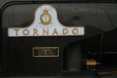 2011 - Eastleigh - A1 class - 60163 Tornado - Cathedrals Express - BR Brunswick Green (name plate)