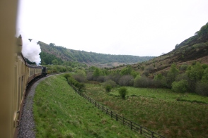 North Yorkshire Moors Railway - Between Levisham & Goathland - Black 5 - 45407 The Lancashire Fusilier