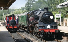 2011 - Bluebell Railway - Sheffield Park - 3 Captain Baxter & BR Standard 4MT 2-6-4T 80151