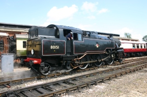 2011 - Bluebell Railway - Sheffield Park - BR Standard 4MT Tank - 80151 (rear view)