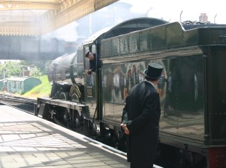 2011 - Great Central Railway - Loughborough - GWR 49xx Hall class - 4953 Pitchford Halll (real Sir Topham Hatt?)
