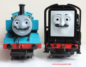 Locoyard Movember 2013 - Thomas the Tank Engine and Devious Diesel (faces)