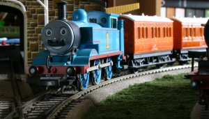 Thomas the Tank Engine Movember at Locoyard (with Annie and Clarabel)