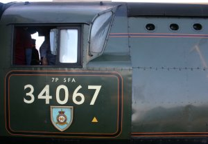 2012 - Mainline Working - Eastleigh - The  Bath Christmas Market - Ex-SR Battle of Britain class - 34067 Tangmere