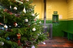 2012 - Watercress Line - Medstead and Four Marks - Christmas Tree in Booking Office