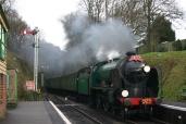 2012 - Watercress Line - Medstead and Four Marks - Schools class V - 925 Cheltenham - Santa Specials