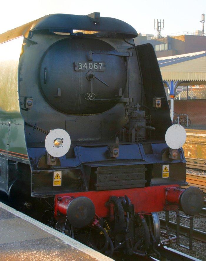 2012 - Mainline Working - Eastleigh - The  Bath Christmas Market - Ex-SR Battle of Britain class - 34067 Tangmere