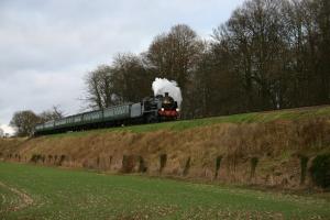 2012 - Watercress Line - approaching Ropley (Bighton Lane) - Ex-SR U class - 31806