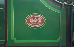 2009 Bluebell Railway - Sheffield Park - SECR C class - 592 (name plate - Longhedge Works)