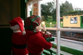 2012 - Watercress Line - Medstead and Four Marks - Christmas scene (view from Booking Office)