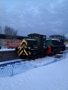 Dave Smith, WRHA - Whitrope Station on the new Border Union Railway - December 2012 (1)