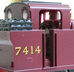 Hornby Railroad LMS 3F Jinty 7414 (cab)
