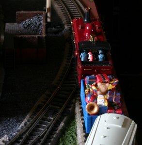 Locoyard Christmas 2012 - Santa Claus cab ride