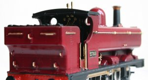 Locoyard Christmas Pannier - Hornby 2721 class 2783 Pannier Tank repainted in Maroon and gold (cab)