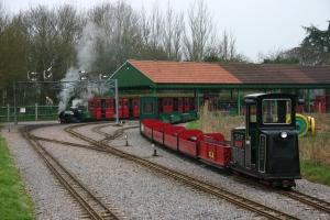 6th January 2013 - Eastleigh Lakeside Steam Railway - 850 Lord Nelson & D 1994 Eastleigh