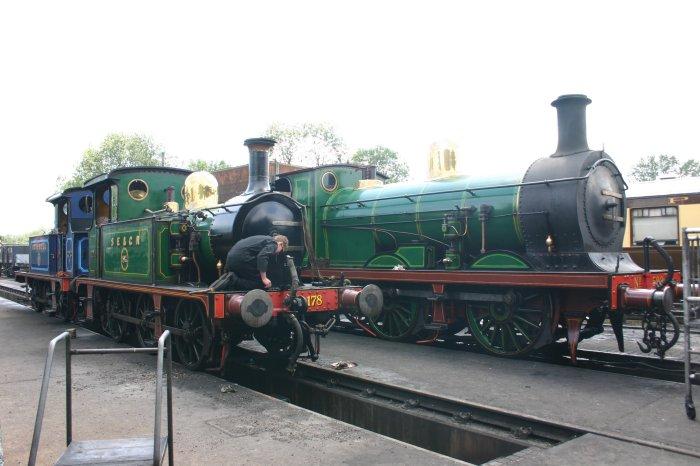 2011 - Bluebell Railway - Sheffield Park - SECR P class 178, 323 Bluebell & C class 592