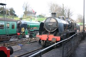 2013 - Watercress Line - Ropley - SR Schools class V 925 Cheltenham passes ex-SR U class 31806