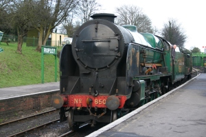 2013 - Watercress Line - Ropley - SR 850 Lord Nelson & diesel shunter class 11 12049