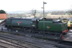 2013 - Watercress Line - Ropley - Ex-SR West Country class - 34007 Wadebridge