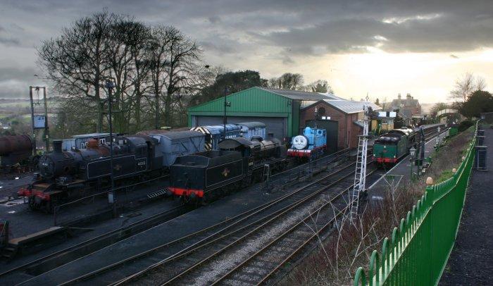 2013 - Watercress Line - Ropley - Ivatt 2MT 41312 & ex-SR U class 31806 & SR 850 Lord Nelson