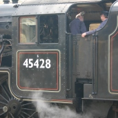 2011 - North York Moors Railway (NYMR) - Whitby - Ex-LMS Black 5 class - 5MT - 45428 Eric Treacy (cab)