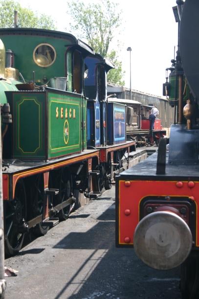 2011 - Bluebell Railway - Sheffield Park - SECR P class 178, 323 Bluebell, C class 592 & 3 Captain Baxter & 592
