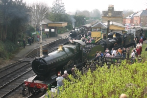 2011 - Watercress Line - Alresford - 3717 City of Truro, 9017 Earl of Berkeley & 70396