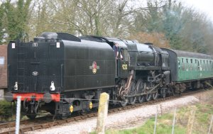 2011 Watercress Line - Approaching Alresford - BR Standard 9F class - 92212